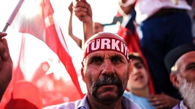 Simpatizantes de Erdogan