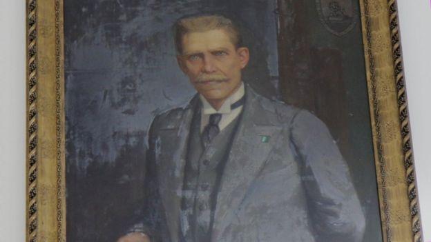 Retrato de Julio Garavito, expuesto en el Observatorio Nacional.