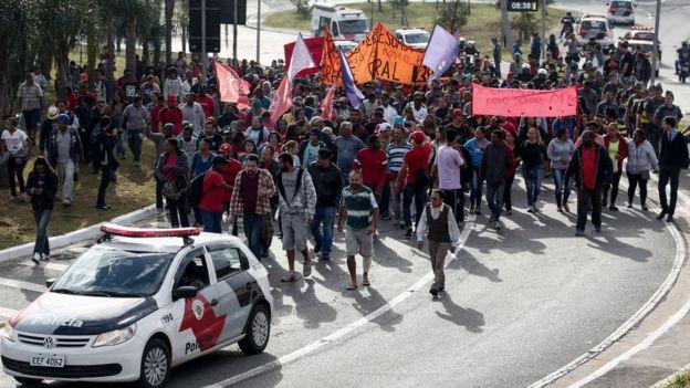 Демонстрация против экономических реформ