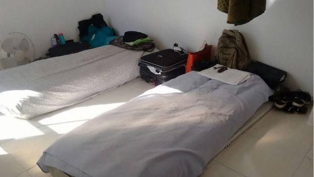 Detalhe de alojamento de agentes da Força Nacional