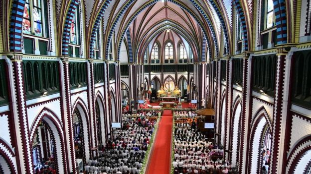 Mass in Myanmar