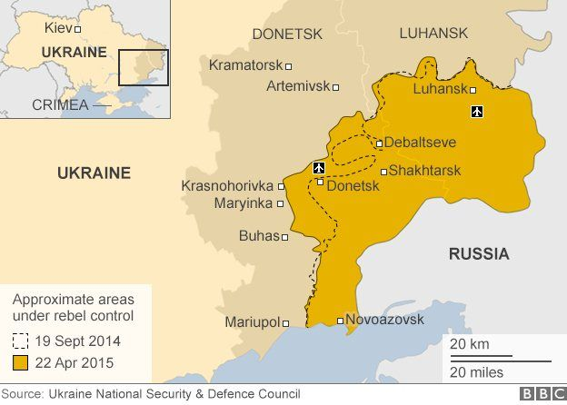 Rebel Territory In Eastern Ukraine Map