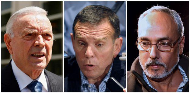 José María Marín (expresidente de la Confederación Brasileña de Fútbol), Juan Ángel Napout (expresidente de la CONMEBOL) y Manuel Burga (expresidente de la Federación Peruana de Fútbol) se declararon no culpables.