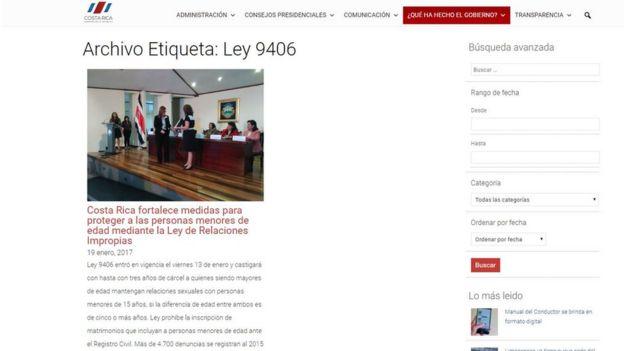Foto: p[agina web de la Presidencia de Costa Rica