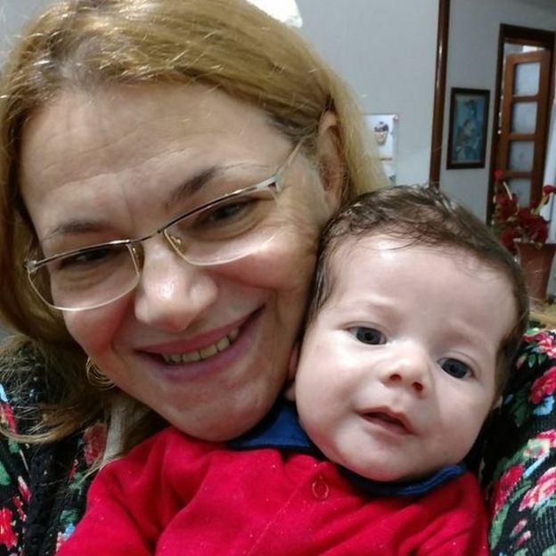 Olga Machado e seu filho Matheus