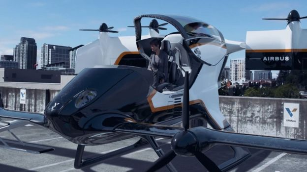Vahana drone graphic