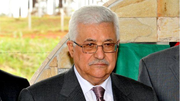 O presidente palestino, Mahmoud Abbas