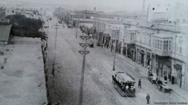 Telefon küçəsi 1905-ci ilə qədər. Foto: Dövlət arxivi