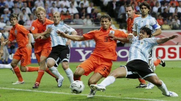 Partido Argentina Holanda en 2006