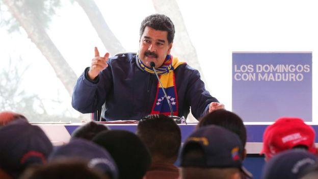 Nicolás Maduro en el programa Los Domingos con Maduro, el 23 de abril, 2017