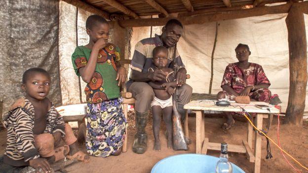 Pierre Mbolihundo and family