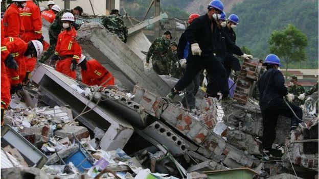2008年的汶川大地震,台灣曾捐出大筆資金。(資料圖片)