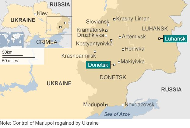 ukraine crisis in maps bbc news