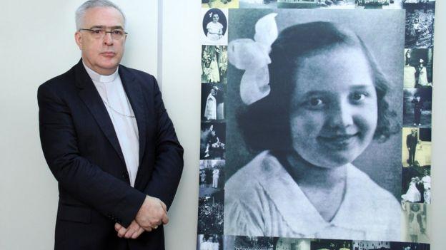 Dom Roberto Lopes e imagem de Odetinha