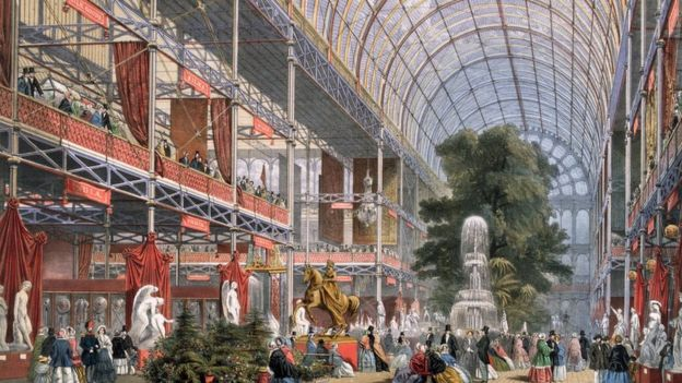 The Great Exhibition at the Crystal Palace in 1851