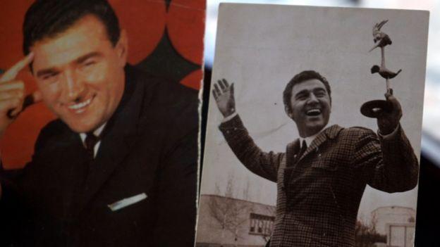 Dos imágenes de Slavko Perovic, estrella del género Yu-Mex, de joven.