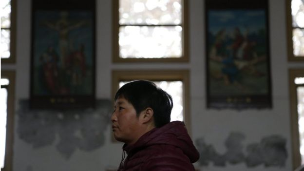 Creyente católicos en China