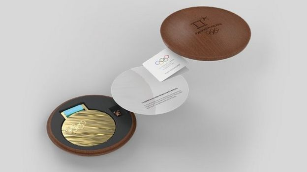 The box in which the medals are kept recalls the traditional houses of Korea, called hanok.  (Photo: PyeongChang 2018)