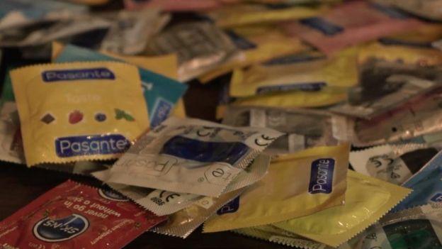 Preservativos. Foto: BBC.