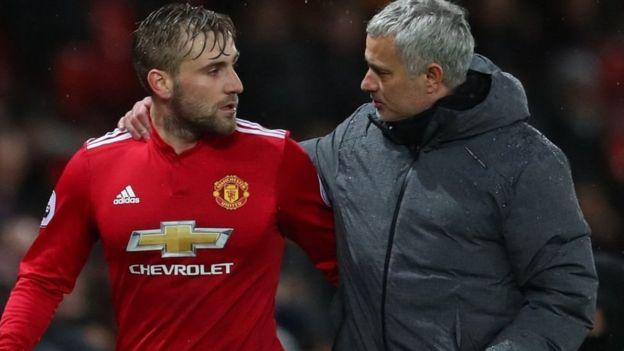 Luke Shaw na Mourinho