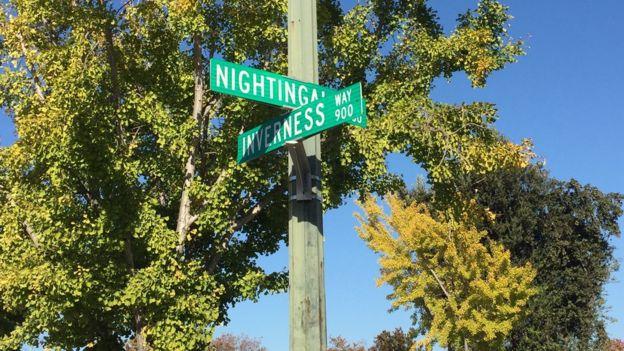 Barrio de los pájaros, cerca de la sede de Apple en Cupertino, California (Foto: Beatriz Díez)