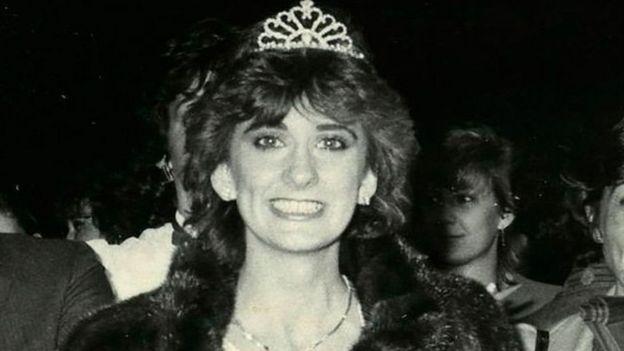 فازت لابيير بلقب ملكة جمال مقاطعة كيبيك في عام 1982