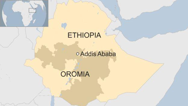 map of Oromia
