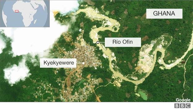 Mapa río Ofin.