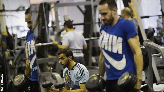 Men doing exercise