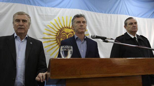 Aguad, Macri y Srur