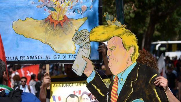 G7 zirvesi protestolara da sahne oldu