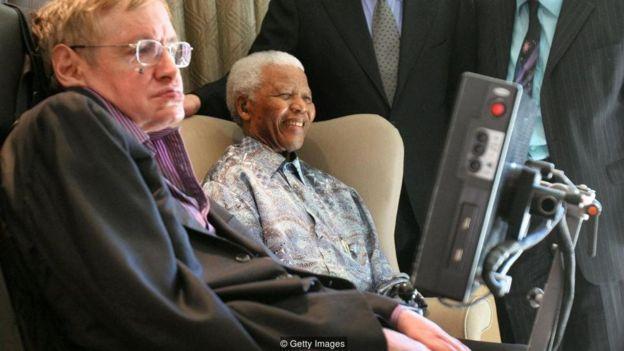 Stephen Hawking e Nelson Mandela