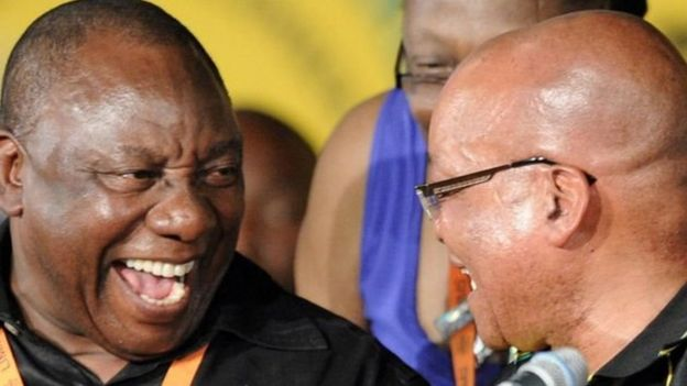Cyril Ramaphosa na Jacob Zuma