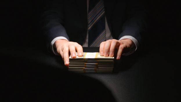 Ilustração de corrupção