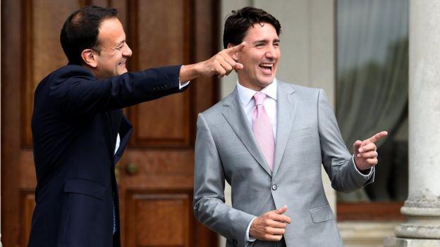 Leo Varadkar ve Justin Trudeau, Dublin'de