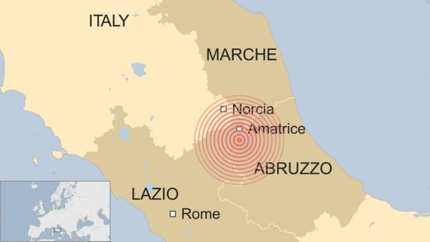 Catastrophe in central Italy on day of four big quakes BBC News