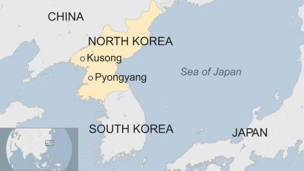 Kombora hilo lilianguka katika bahari ya Japan