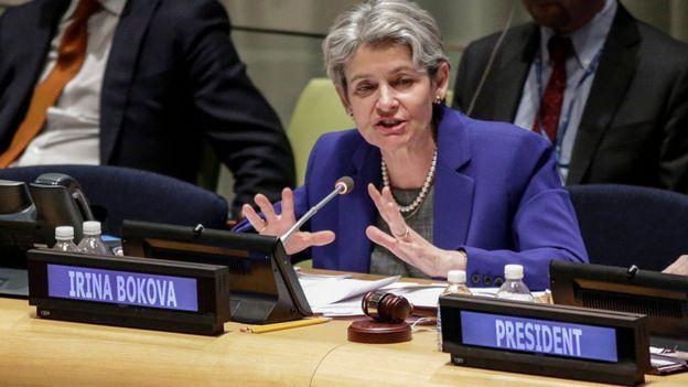La directora general de Unesco, Irina Bukova