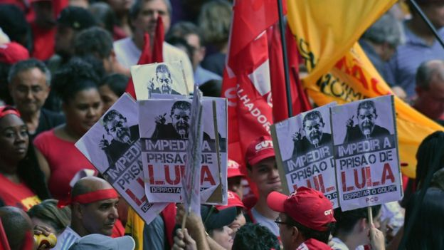 Simpatizantes de Lula en Sao Paulo.