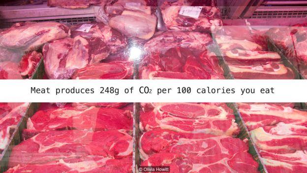 Sữa sản sinh 248g CO2 mỗi 100 calories chúng ta ăn