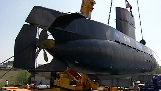 A home-built submarine, the Nautilius