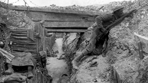 British trench during the Battle of the Somme Photo: Wiki Commons