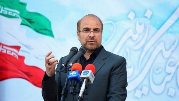 One of the hardliners challenging Mr Rouhani is Tehran Mayor Mohammad Baqer Qalibaf