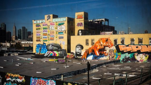 Edificio 5Pointz de Queens con grafitis.