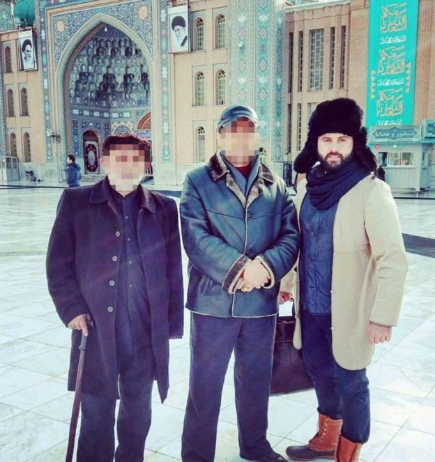 اليهودي الإسرائيلي بن تسيون نشر صورا له في طهران وقم بإيران