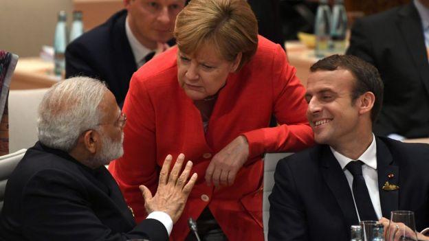 Thủ tướng Ấn Độ, ông Modi và lãnh đạo nước chủ nhà cùng Tổng thống Macron của Pháp