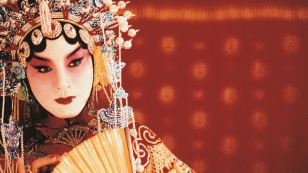 Cheung as an androgynous Peking Opera star in Farewell My Concubine