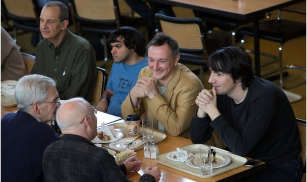 Voevodsky en un charla en Princeton (Foto: Andrea Kane/IAS, Princeton)