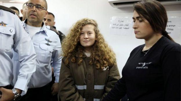 Ahed Tamimi en el tribunal (15/01/18)