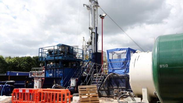 Fracking, Inggris
